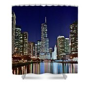 A View Down The Chicago River Shower Curtain