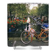 A View Down The Keizersgracht Canal Shower Curtain