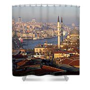A View From Istanbul Shower Curtain