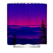 A View From Stuart  Peak Shower Curtain