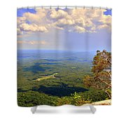 A View From Table Rock Shower Curtain