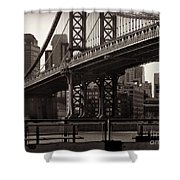 A View From The Bridge - Manhattan Bridge New York Shower Curtain