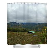 A View From The Top Of The Temple Of The Sun Shower Curtain