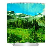 A View Into Paradise Shower Curtain