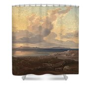 A View Of Aegina Shower Curtain