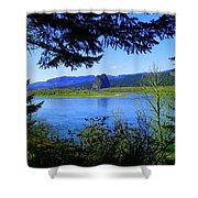 A View Of Beacon Rock Shower Curtain