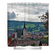 A View Of Cesky Krumlov  Shower Curtain