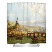 A View Of Dinant Shower Curtain