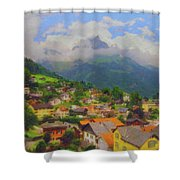 A View Of Engelberg Switzerland Shower Curtain