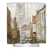 A View Of Irongate Shower Curtain by Louise J Rayner