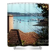 A View Of Mylor Harbour Shower Curtain