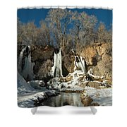 A View Of Rifle Falls Shower Curtain