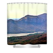 A View Of Table Rock South Carolina Shower Curtain
