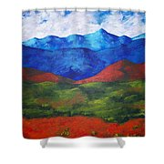 A View Of The Blue Mountains Of The Adirondacks Shower Curtain