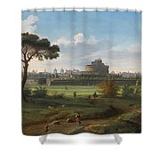 A View Of The Castel Sant'angelo Shower Curtain