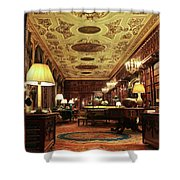 A View Of The Chatsworth House Library, England Shower Curtain