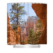 A View Of The Hoodoos And Erosion Shower Curtain