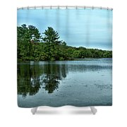A View Of The Lake Shower Curtain