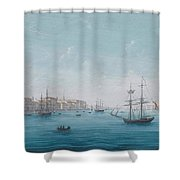 A View Of The Neva River Shower Curtain