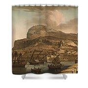 A View Of The Rock Of Gibraltar From The Spanish Lines 1782 Shower Curtain