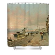 A View Of Venice Shower Curtain