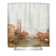 A View Of Verona Shower Curtain by George Clarkson Stanfield