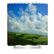 A View Over Exmoor Shower Curtain