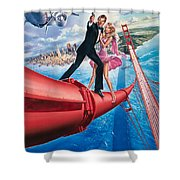 A View To A Kill 1985 Shower Curtain