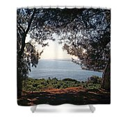 A View To The Sea Shower Curtain