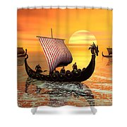 The Vikings Are Coming Shower Curtain