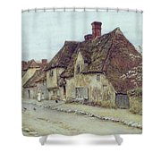 A Village Street Kent Shower Curtain by Helen Allingham