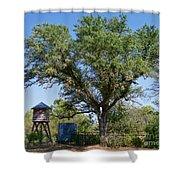 A Vintage Farm Shower Curtain