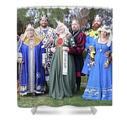 A Visit With Royalty Shower Curtain