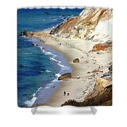 A Walk Along Aquinnah Beach Shower Curtain