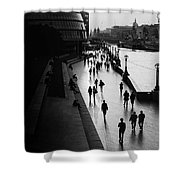 A Walk Along The Thames Shower Curtain