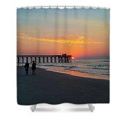 A Walk At Sunrise - Avalon New Jersey Shower Curtain