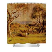 A Walk By The Sea 1915 Shower Curtain