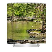 A Walk In City Park Shower Curtain