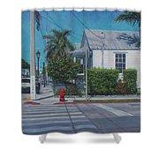 A Walk In Key West Shower Curtain