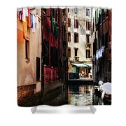 A Walk In Venice Shower Curtain