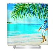 A Walk On Waikiki Beach #190 Shower Curtain