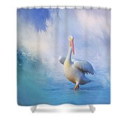 A Walk On Water Shower Curtain