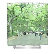 A Walk Through Central Park Shower Curtain