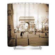 A Walk Through Paris 3 Shower Curtain