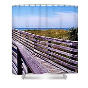 A Walk To The Beach Shower Curtain
