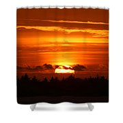 A Warm Goodnight Shower Curtain