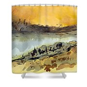 A Warm Sandy Place Shower Curtain