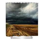 Nature's Watering Of The Crops Shower Curtain