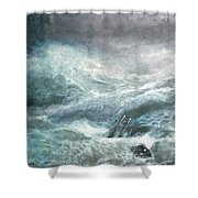 a wave my way by Jarko Shower Curtain