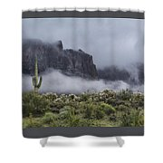 A Wave Of Fog On The Superstitions  Shower Curtain